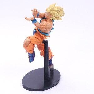Image 4 - Boneco colecionável dragon ball z goku, brinquedo de estilo inimigo dbz goku super saiyan de choque de coleção de onda, modelo 18cm