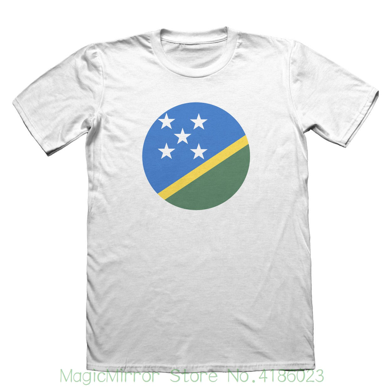 Solomon Islands Flag Design T-shirt - Mens Fathers Day Christmas #9158 Hot Selling 100 % Cotton Tee Shirts