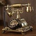 Marca de Moda teléfono vintage teléfono antiguo placa giratoria antiguo teléfono del dial rotatorio