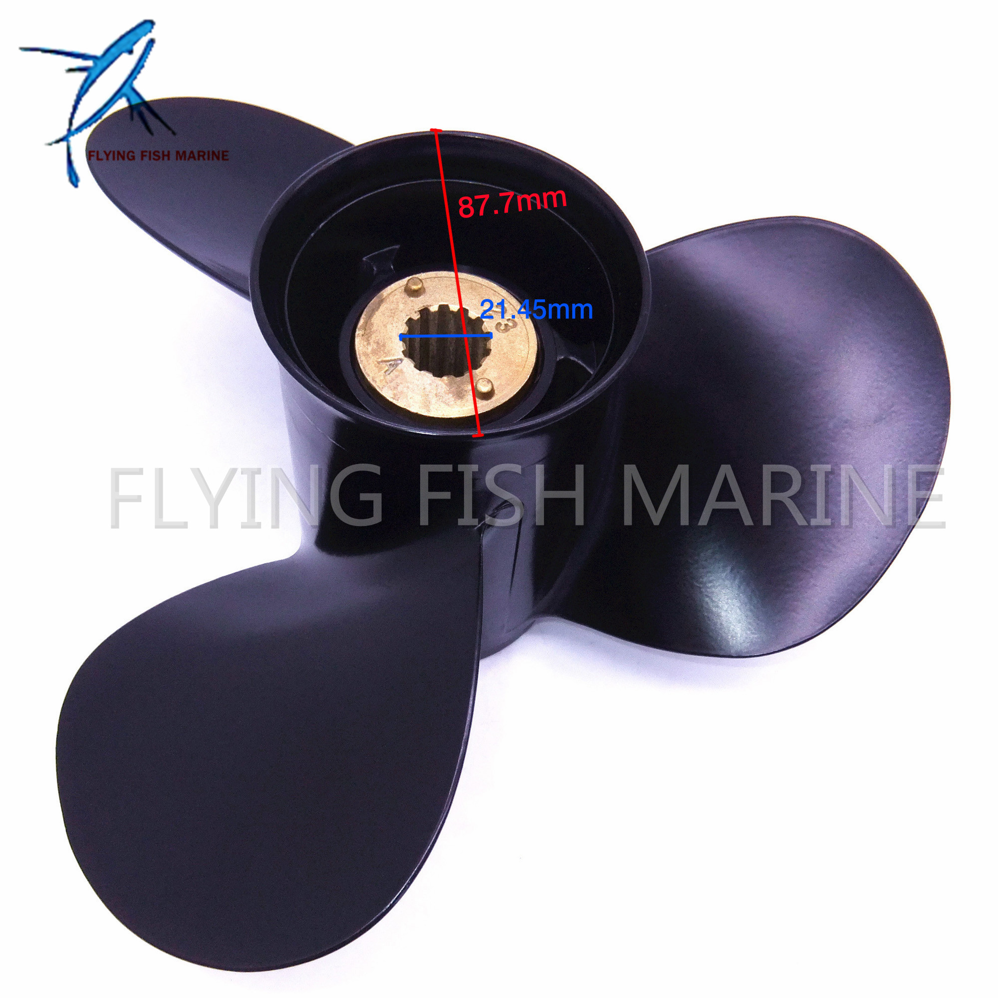 11 1/8x13 G Aluminum Propeller for Mercury  40HP 45HP 48HP 50HP 55HP 60HP 70HP Boat Motors 11 1/8 x 13 G Outboard Engine