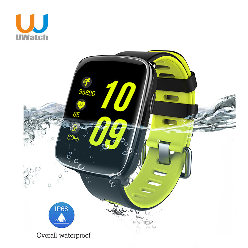 Smart Watch Waterproof Ip68 Heart Rate Monitor with Replaceable Strap for Android  Bluetooth Smartwatch f2 smart watch accurate heart rate