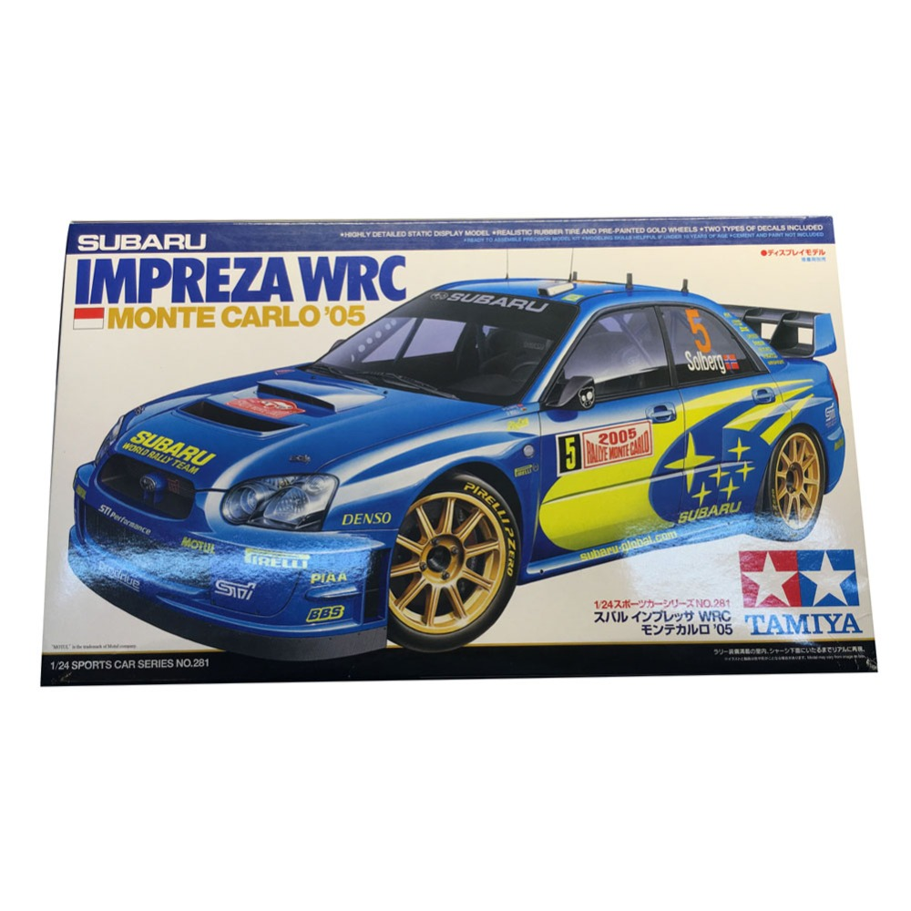 OHS Tamiya 24281 1/24 Impreza WRC Monte Carlo 05 Scale Assembly Car Model Building Kits hasegawa model 1 24 scale civil models 20263 focus rs wrc 04 plastic model kit