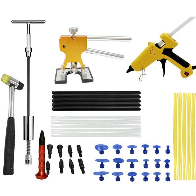 PDR Tool Kit Glue Puller Stick Paintless Dent Repair tools Car Body Dent Repair Hand Tools Glue Gun Tabs Kit Ferramentas DN168