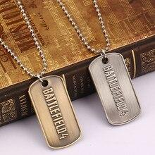 Игра Ювелирные изделия Battlefield 4 Цепочки и ожерелья Письмо Логотип Dog Tag металлические бусины брелок держатель кулон колье Kolye Chaveiro Для мужчин подарок ключ