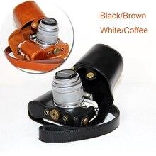 Искусственная кожа Камера сумка Обложка Чехол для Olympus PEN e-pl7 e-pl8 epl7 epl8 с 14-42 мм объектив с ремень Защитный чехол