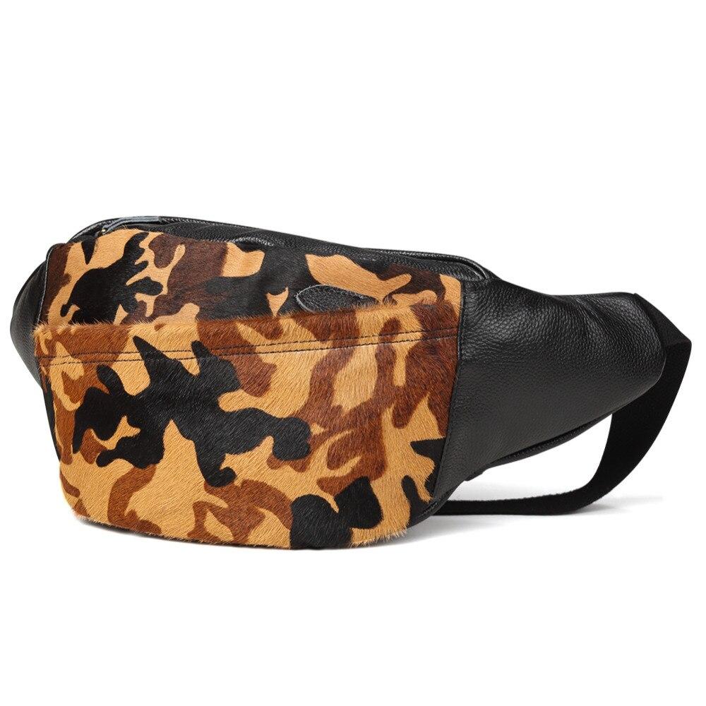 Мужские поясные сумки из натуральной кожи, камуфляжные нагрудные сумки, поясные сумки, мешочки для телефона, поясные сумки для путешествий, Мужские поясные сумки, кожаные сумки - 2