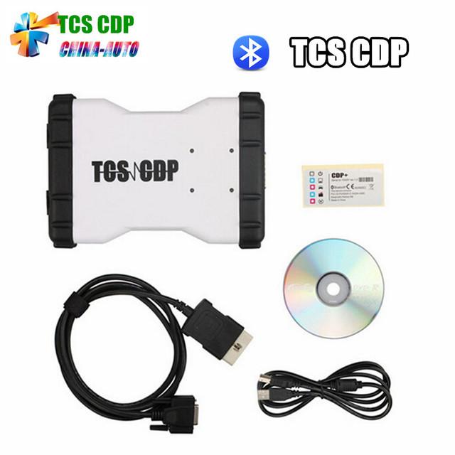 Mais Votados TCS + CDP 2015 R3 Com Bluetooth Novo VCI OBD2 Scanner OBDII Ferramenta De Diagnóstico CDP Pro Para Carros/caminhões