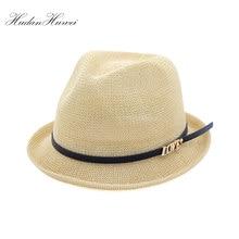89f089246713b Moda Inglaterra mujeres verano rollo Brim Jazz sombreros con la palabra  amor cinturón viajes sombrero del