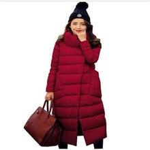 4211c7159 Alta Qualidade Mulheres Para Baixo Parka 2016 Moda Quente Casacos de  Inverno Espessamento Fino Gola Pato