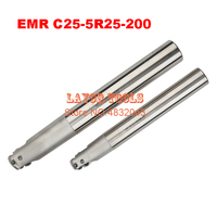EMR C25-5R25-200 Bore Indexable Shoulder End Mill Arbor Mill Cutting Tools  Insert of carbide inserts RPMT1003/RPMW1003