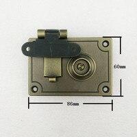 Bronze Tone Brass Bag Lock,Box Lock Rectangle,86*60mm,1 Set