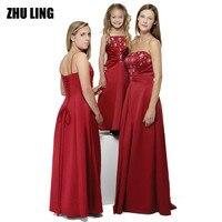 ארוך אונליין רויאל הכחול אדום בורגונדי טורקיז כחול ורוד סגול שחור ילדה פרח ילדים junior תחרות כדור שמלת ערב נשף שמלת