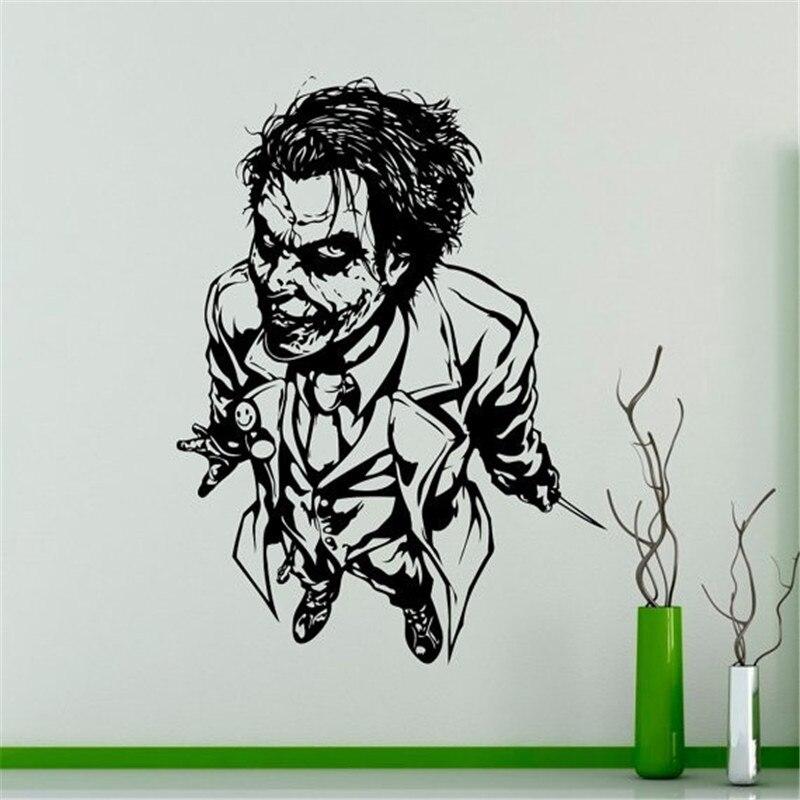 Pertempuran Joker Berdiri Berpola Art Keren Dinding Decals Rumah Livingroom Decor Joker Khusus Seluruh Pola Vinyl