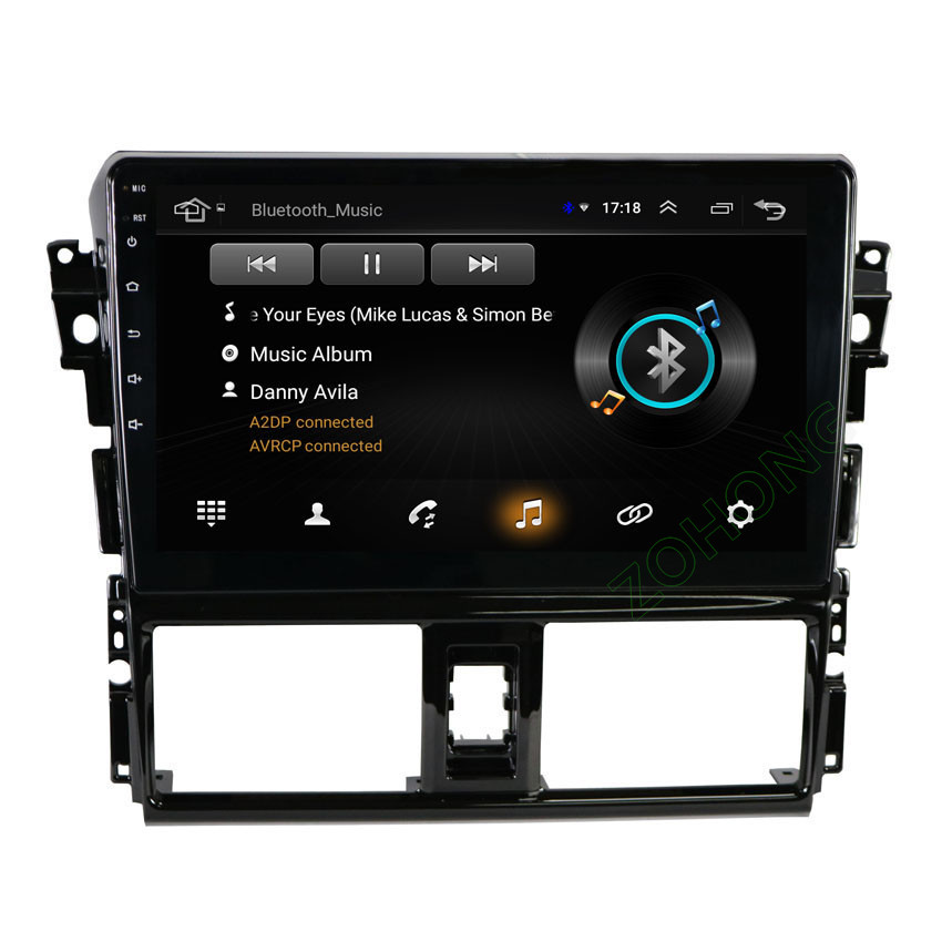 "Image 3 - 2.5D 10.2"" 4G 2+32Gb Android 9.0 car Multimedia DVD player for Toyota Vios Yaris 2013 2014 2015 2016 CAR GPS navigation Radio-in Car Multimedia Player from Automobiles & Motorcycles"