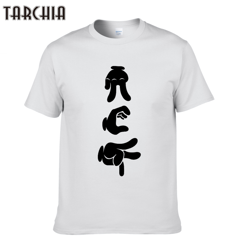 TARCHIA Men Rock-Paper-Scissors T Shirts 2018 New Short Sleeve Cotton T Shirt Hip Hop O-Neck Tshirt Homme Sportswear T-Shirt