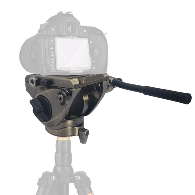 Mcoplus FH-5 Video Fluid Tripod Head Damping Hydraulic Panoramic Head for Slider Monopod DSLR Camera Shooting Video Film