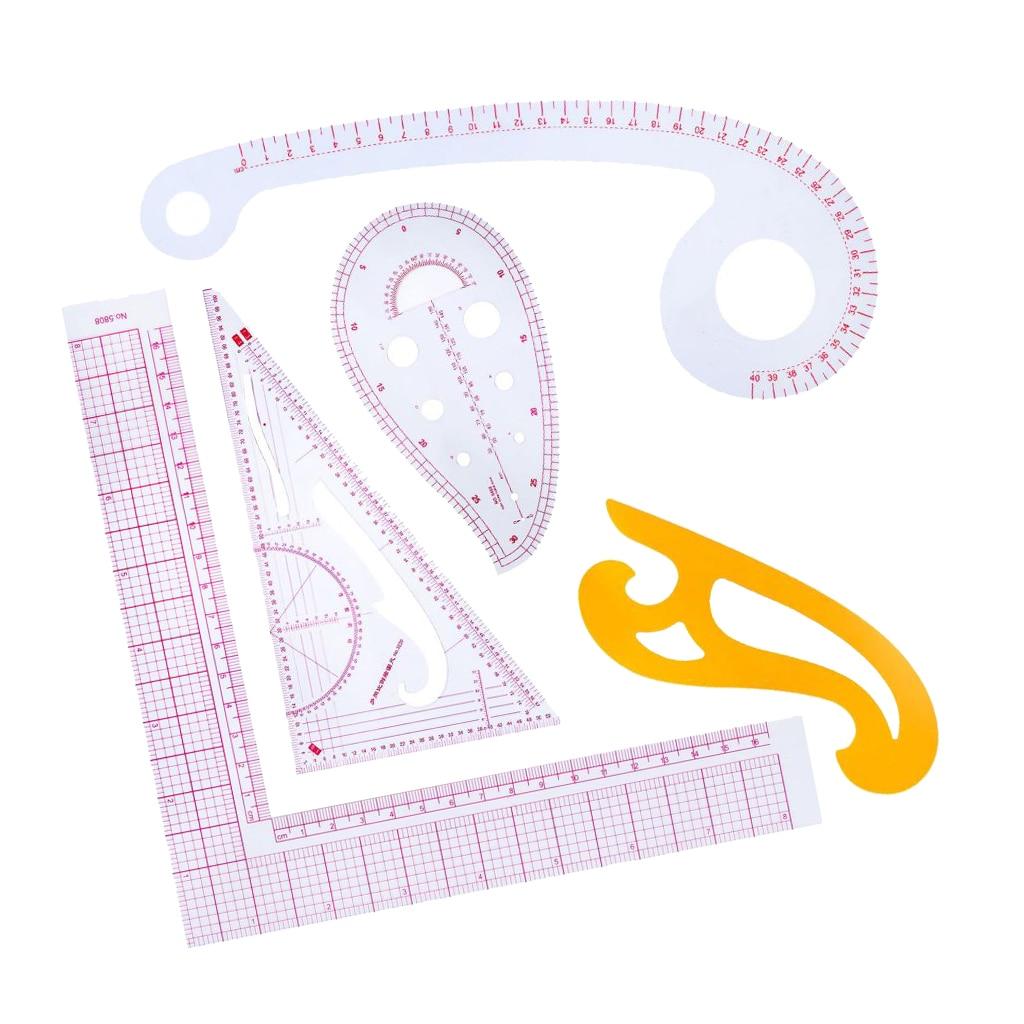 5pcs Stlye Plastic Curve Stick Pattern Design DIY Sewing Ruler Tailor Set French Curve Accessories