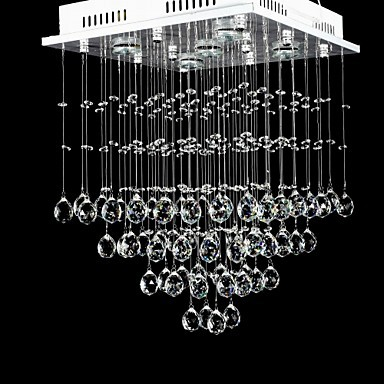 Luxury LED Modern Crystal Pendant Lamp Light with 5 Lights For Home Dinning Lighting,Lustre De Cristal Sala Teto