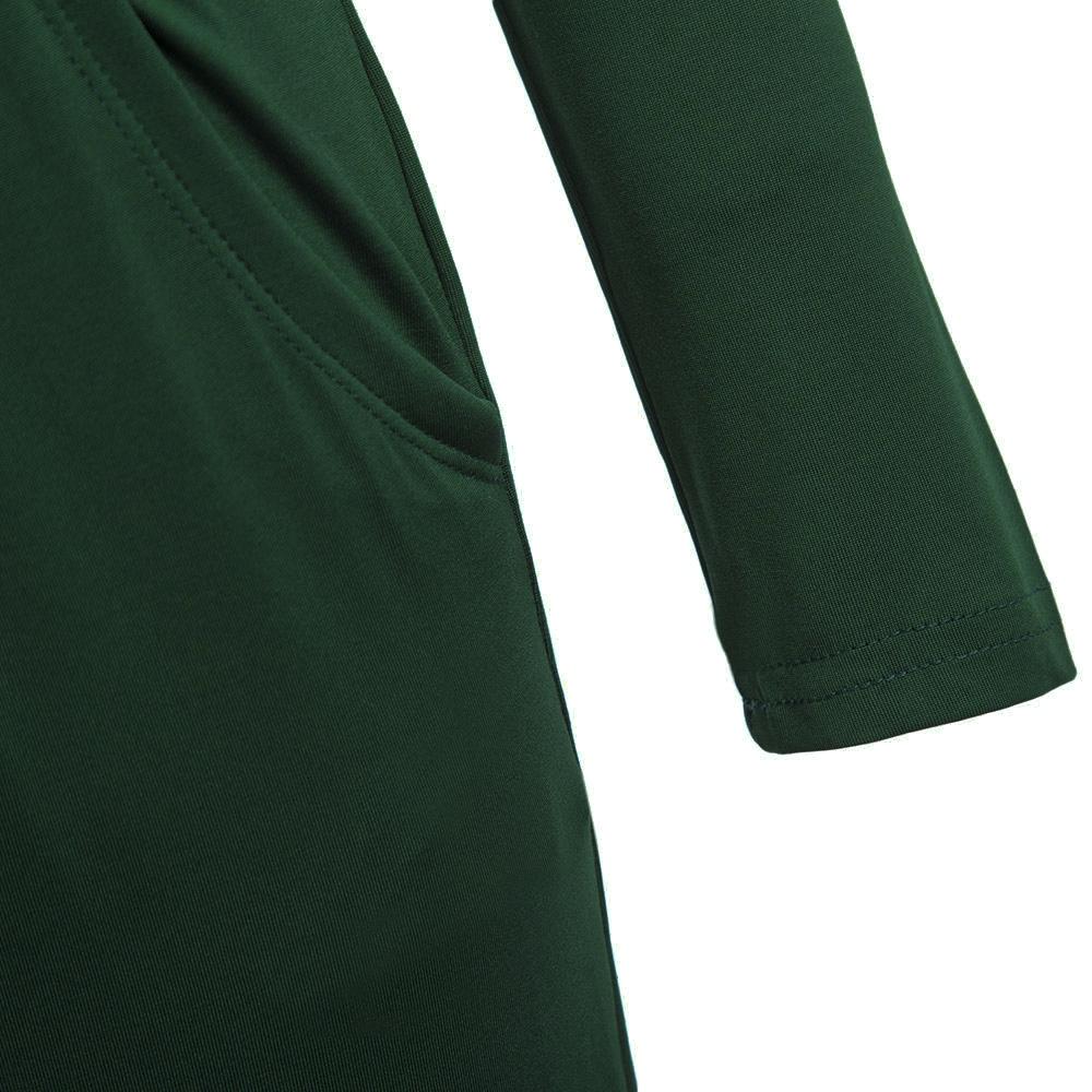 VESTLINDA Vintage Vestidos Longo Jurken Women Maxi Dress Full Sleeve Casual Dress Autumn A Line Solid Ropa Mujer Long Dress 5