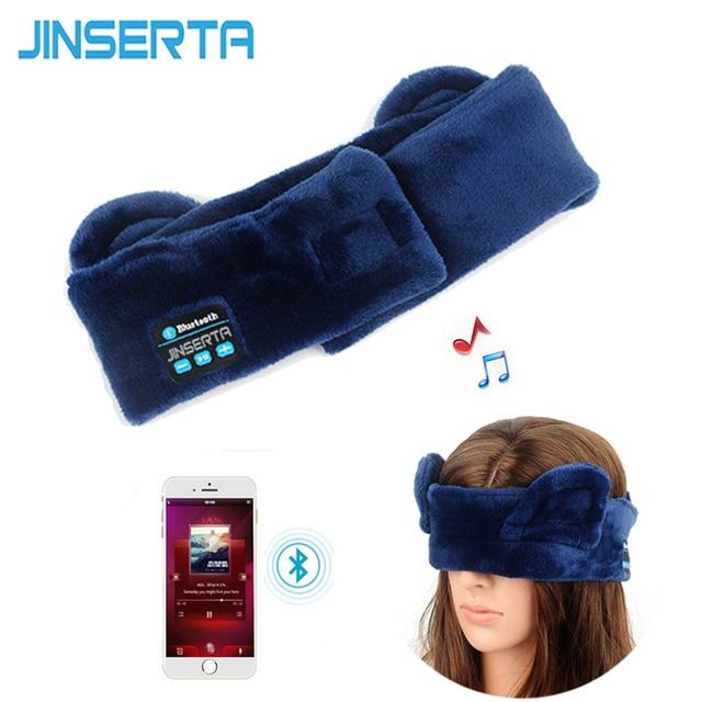 JINSERTA Wireless Bluetooth Sleep Headphone Headband High Quality Stereo Earphone for Eye Mask+Music Headset+Answering Phone