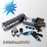 singflo 12v 24v dc diaphragm water pump for car washing leisure boat fish tank FL 35S 70psi 4.8 Bar 20.0LPM 5.5GPM