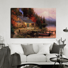 Thomas Kinkade Perfect Day HD Wall Art Canvas Painting Poster Prints Modern Picture For Living Room Home Decor