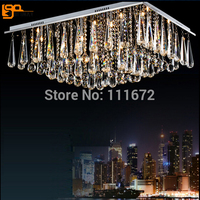 New Luxury Foyer Ceiling Crystal Light Modern LED Chandelier With Remote Control L800 W600 H360mm Lustres