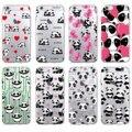 Cute Panda Heart Lover Cartoon Animal Soft Phone Case Cover Coque Fundas For iPhone 7 7Plus 6 6S XS Max 8 8Plus