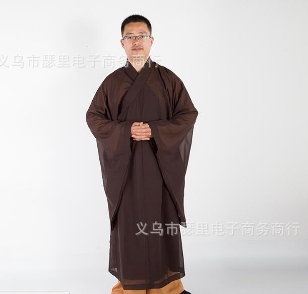 Unisex Black Summer Buddhist Monks Costume Shaolin Temple Monk Clothing Robe Zen Clothes Buddhism Meditation Lohan Clothes