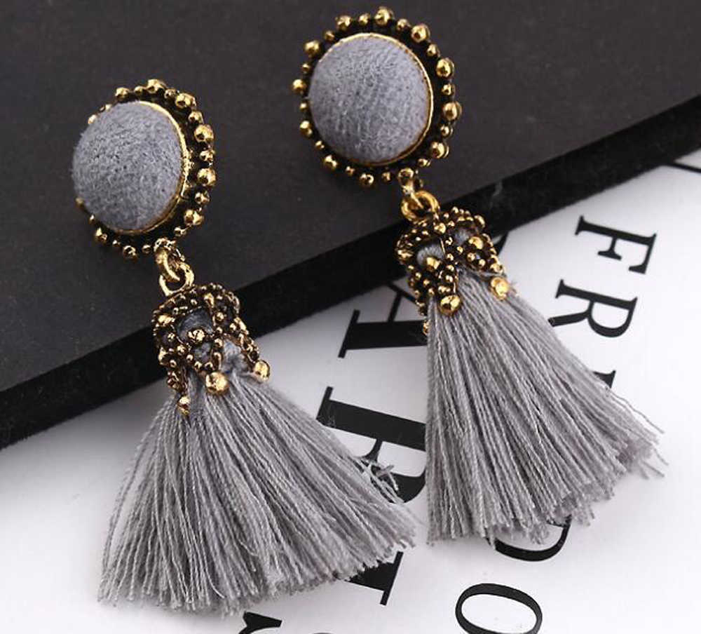 Earrings for women Fashion Luxury Crystal Round Ball Tassel Earrings Wedding Charm Elegant Rhinestone Zircon Long EarringJewelry
