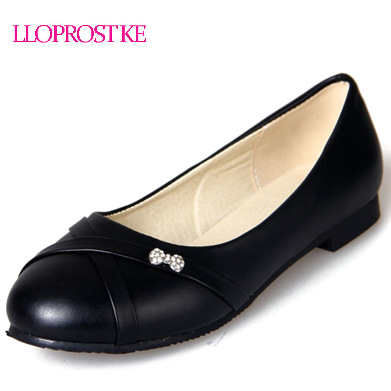 LLOPROST KE Flats Shoes Woman 2018 New Flats Female Ballet Shoes Comfort Rhinestones Casual Flats zapatos mujer Size 30-47 MY122 women pointed toe flats 2016 casual shoes female graffiti ballet flats mujer zapatos footwear for woman