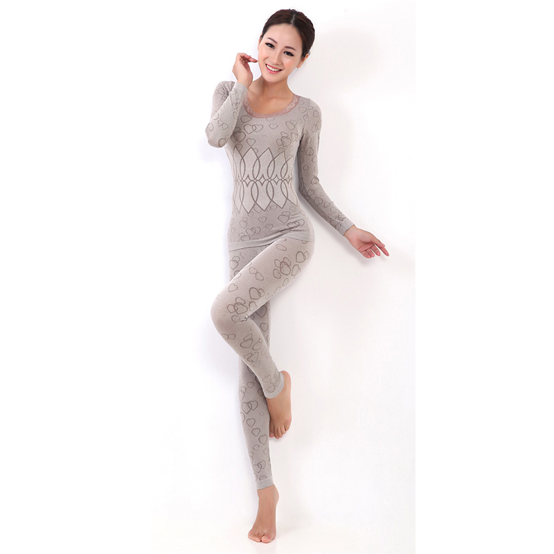 Good Quality Women's Thermal Underwear Set Long Johns Female Long-sleeved Pajamas Suit Underwear Autumn/winter Tracksuit