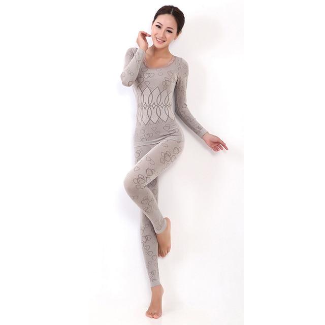 c16415616776 Good Quality Women s thermal underwear Set Long Johns female long-sleeved  pajamas suit underwear autumn winter tracksuit