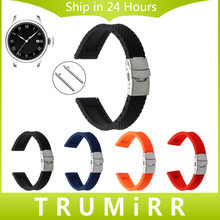 Fast Launch Silicone Rubber Watchband for Tissot Males Girls Watch Band Wrist Strap Belt 17mm 18mm 19mm 20mm 21mm 22mm 23mm 24mm