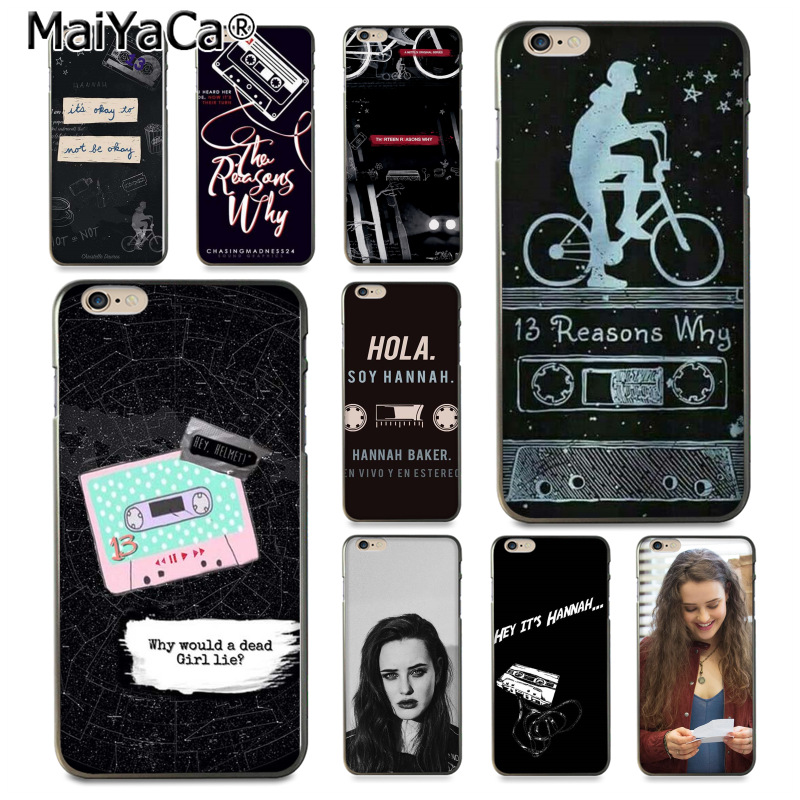 MaiYaCa <font><b>13</b></font> Thirteen <font><b>Reasons</b></font> <font><b>Why</b></font> Newest Super soft Phone <font><b>Cases</b></font> for <font><b>iPhone</b></font> 8 7 6 6S Plus X 10 5 5S SE 5C Coque Shell