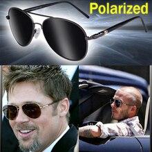 LVVKEE Classic Mens Aviation polarized sunglasses man brown Lens Pilot Driving Sun glasses Male eyewear gafas de sol hombre
