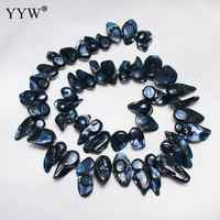 YYW di Alta Qualità Coltivate Barocco Perla D'acqua Dolce Perline Pepite blu 12-21 millimetri Circa 0.8 millimetri Venduto Per 15 inch Strand