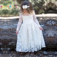 Brand New Flower Girl Dresses White Ivory Real Party Pageant Communion Birthday Party Girls Kids Children