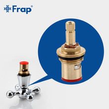 Frap 10pcs Brass Cartridge for kitchen Faucet Cartridge Water Mixer Tap Inner Faucet Valve Basin Bathroom tap Accessories F52-4(China)