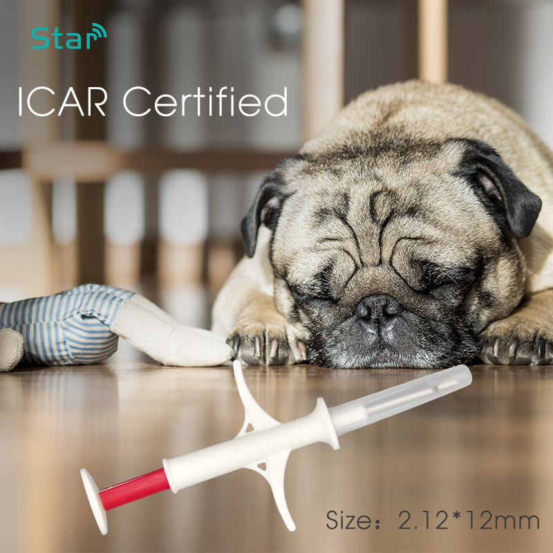 (80pcs) 134.2khz Fdx-b Microchip Syringe 1.4*8mm Pet Microchips Lf Animal Glass Tag Rfid Syringe For Sheep Cattle Dogs Cats Pig