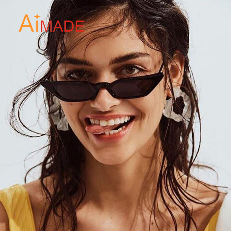 273ad9c5d1bd Aliexpress.com : Buy Aimade 2018 New Clear Lens Small Cat Eye Sunglasses  Women Fashion Brand Cute Red Gray Cateye Sun Glasses For Female Shades  UV400 from ...