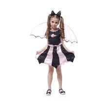 BAT Girl traje niños Cosplay Dance dress cabo capa disfraces para niños  pequeña bruja Halloween encantadora 0eb84f13ef7