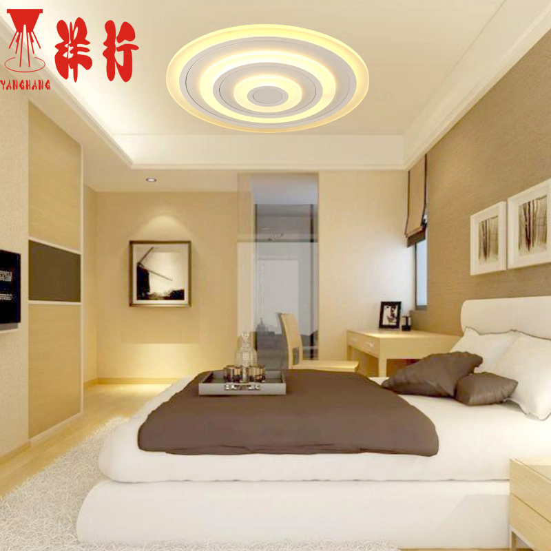 Modern acrylic lamp of the sitting room dining-room lamp luxurious bedroom ceiling lamp lighting lamps and lanterns of sweet rom new led wall light creative footprint dimming lamp for bedroom dining room lamp acrylic circular sitting room lighting