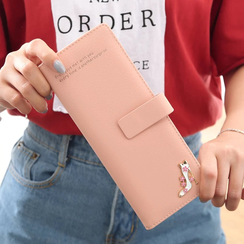 Prettyzys Fashion 55 cards position women credit card holders large capacity lady's card bag long brand female ID card wallet