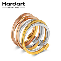 Hardart Assorted Ring 3 In 1 Rings Twisted 316L Stainless Steel Men S Women Wedding Band