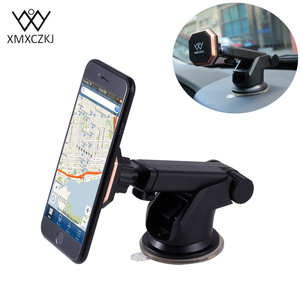 XMXCZKJ Universal Mount Mobile Phone Magnetic 360 Rotation Car Windshield Holder Stand For iPhone Samsung Xiaomi Smartphone GPS