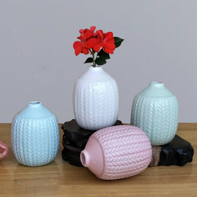 3pcslot Simply Ceramic Bottle Used For Reed Diffuser Flower Vase