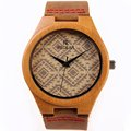 100% Nature Wooden Bamboo  Wood Wristwatches For Man And Women With Japenese high Quality genuine leather Watch  With Luminous