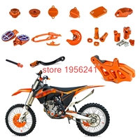 NICECNC Gear Shifter & Brake Hose Clamp & Reservoir Cover & Chain Guide & Foot Pegs For KTM 250 SXF SX F EXC F XCF XC F XCF W