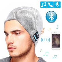 QINGRX  Wireless Bluetooth Headphones Music Hat Smart Caps Headset Earphone Warm Beanies Winter with Speaker Mic for Sport